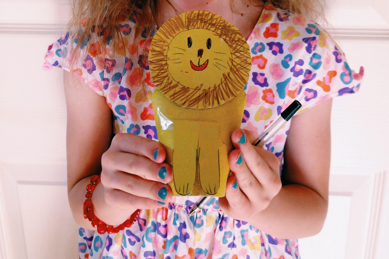 Fabulous cardboard lion!