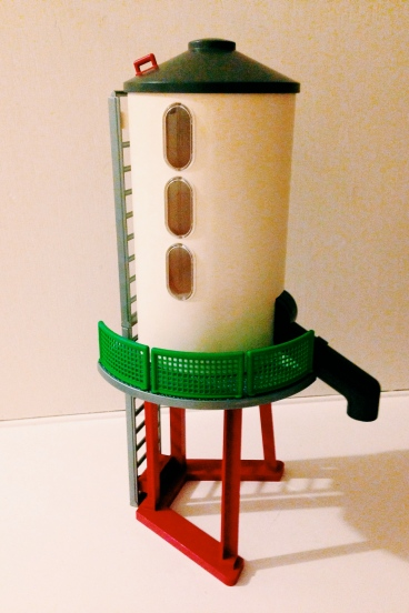 Toy grain silo. Weird, but he loves it!