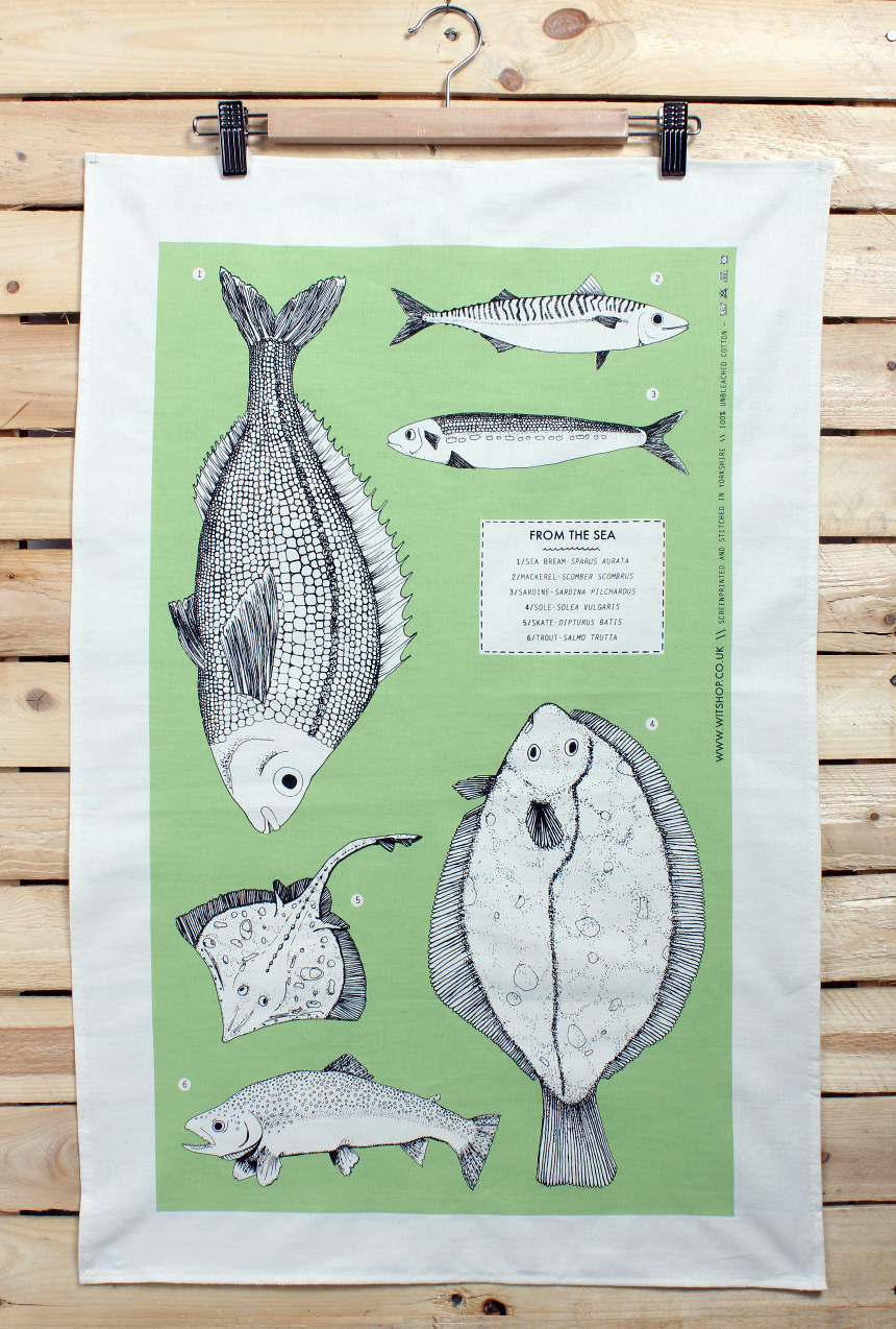 Fishy Tea Towel (image from Witshop)