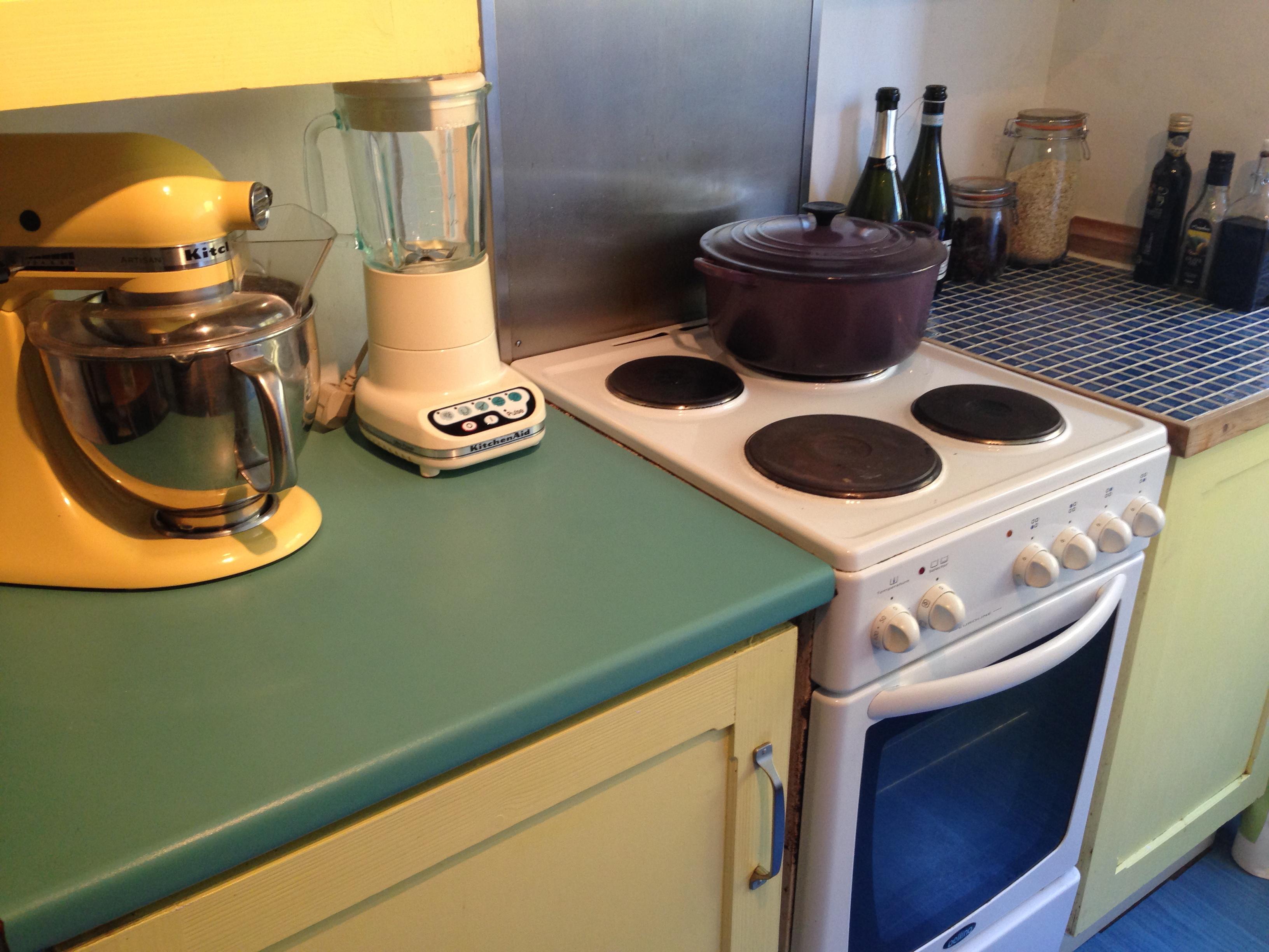 Yellow kitchen aid mixer