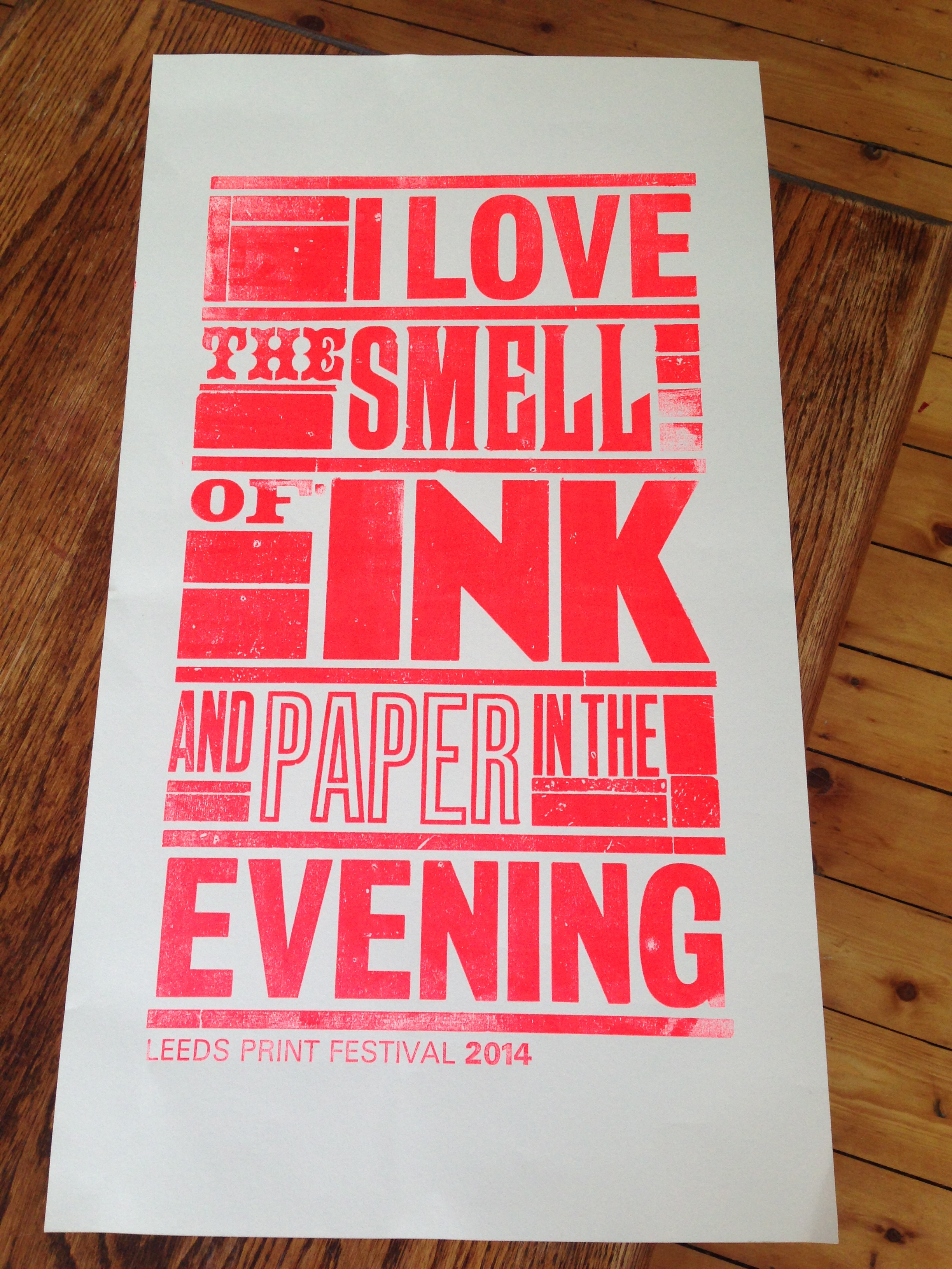 Leeds Print Festival letterpress